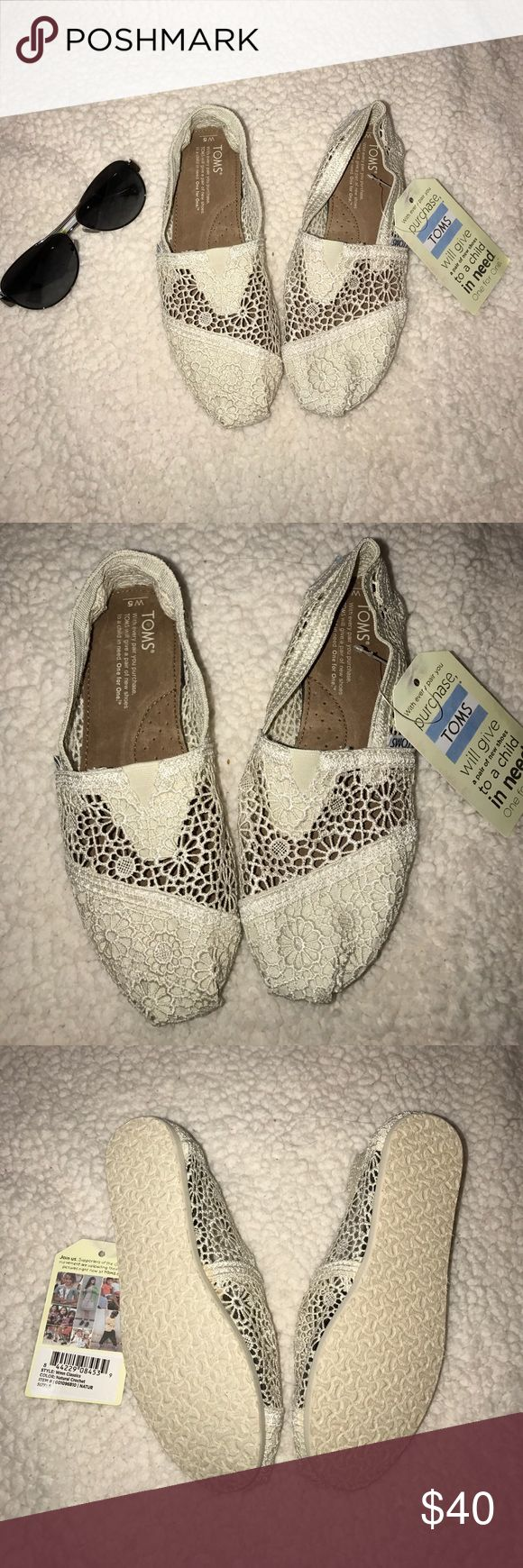 *NWT*Crochet TOMS size 5 NWT Crochet TOMS in size 5. TOMS Shoes