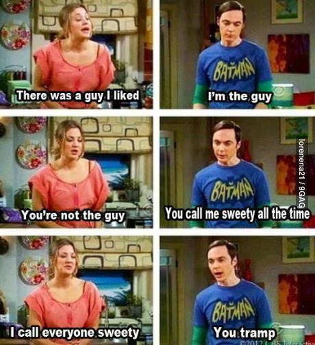 Just Sheldon being sheldon
