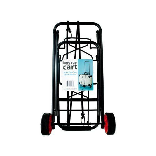 Folding Luggage Cart Portable Hand Push Rolling Wheels Carry Foldable Travel New