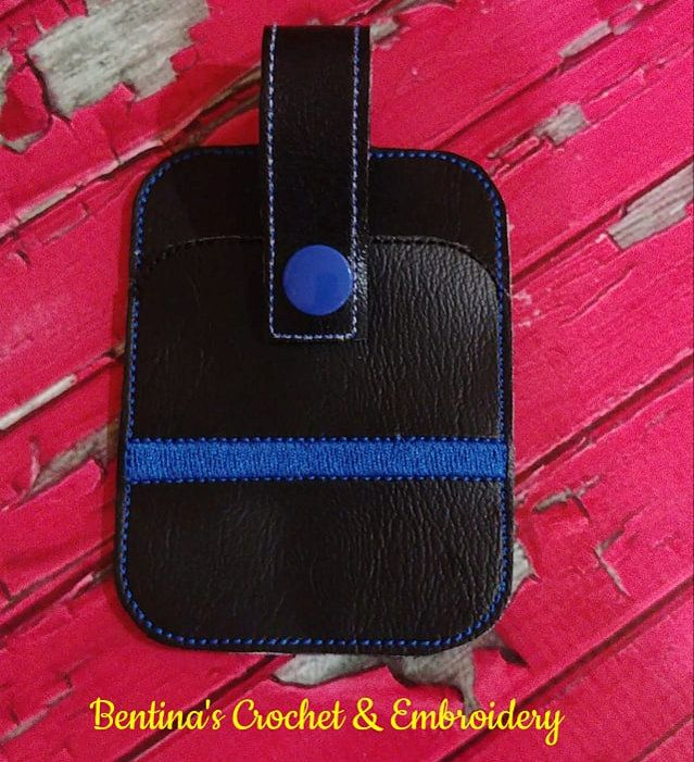 Credit Card Holder Fob Thin Blue Line – Products – SWAK Embroidery A-Z Embroider…