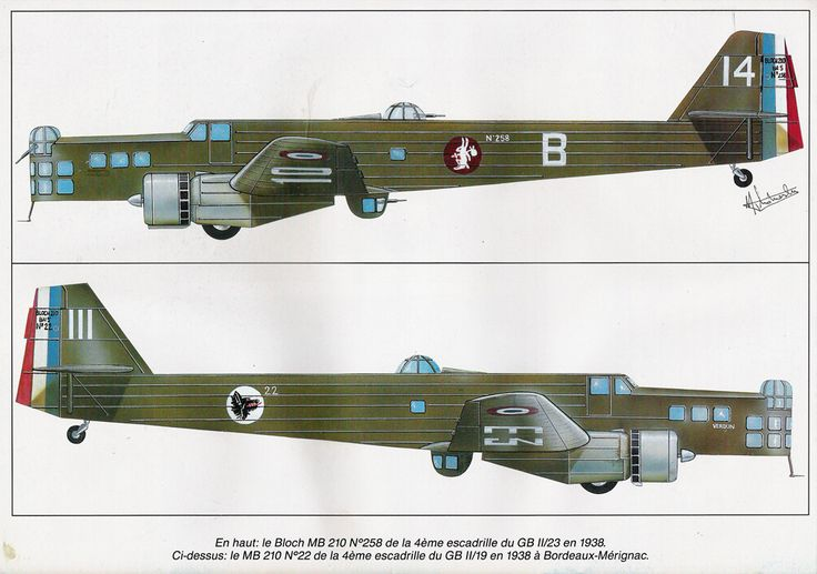 Bloch MB.210 :: The MB.210 and MB.211 were the successors ...