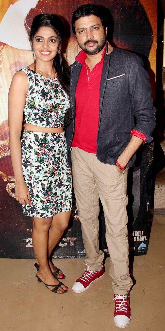 Ankush Choudhary and Pooja Sawant at the screening of #Marathi film 'Daagadi Chaawl'. #Bollywood #Fashion #Style #Beauty #Handsome