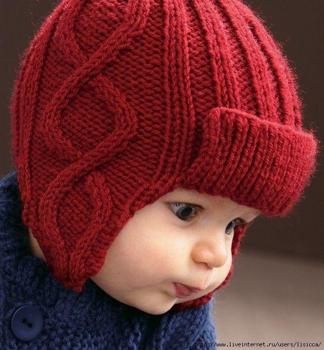 Вяжем шапочку с ушками