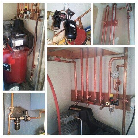 My air line system. #garageshop #compressedair
