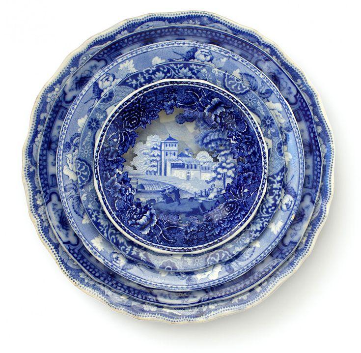 Landscapes Sculpted into Layered Antique Dinner Plates by Caroline Slotte  sc 1 st  Pinterest & 117 best Antique Dinner Plates images on Pinterest | Dishes China ...