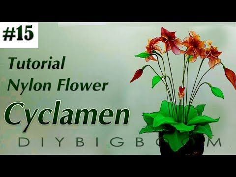 Nylon stocking flowers tutorial #15, How to make nylon stocking flower step by step - YouTube