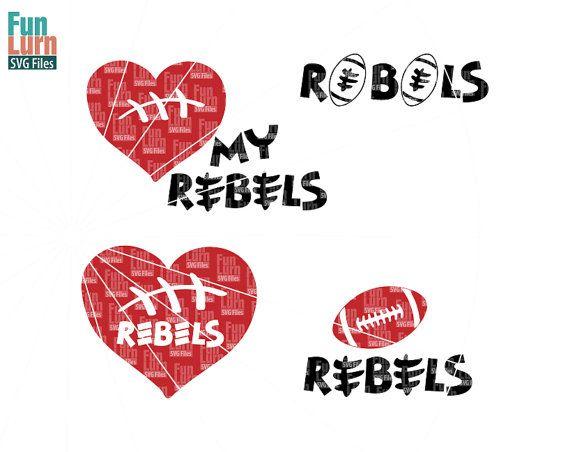 Football SVGFootball season  Bears Football Rebels by FunLurnSVG