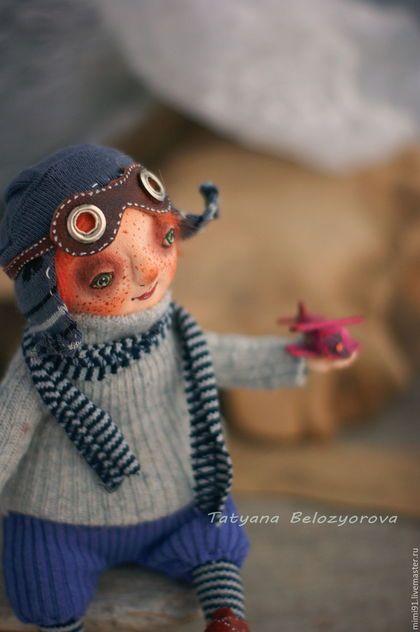 Art doll / Человечки ручной работы. Ярмарка Мастеров - ручная работа. Купить Мечты о небе. Handmade. Комбинированный, кукла на каркасе, полимерная глина
