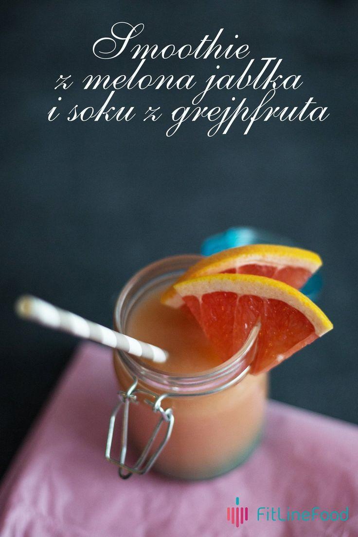 Dzisiaj dopiero środa. Zanim dobijemy do weekendu przyda nam się mały zastrzyk energii. Smoothie z melona, jabłka i soku z grejpfruta pomoże Ci dotrwać do piątku, piąteczku, piątunia...