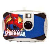 Marvel Spiderman Digital Camera w/ 3 Faceplates (94044). VGA Resolution. Can be used as digital camera, video camera, or web camera. Includes three face plates. Includes X internal memory. Includes Spiderman PhotoNet Software.