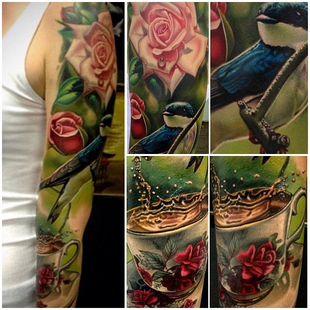 Beautiful Sleeve by Nikko Hurtado ABSOLUTELY stunning!!!!    I would so love a piece by Mr. Hurtado <3
