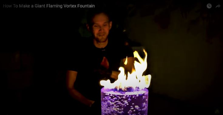 Making A Giant Flaming Vortex Fountain Has Never Been This Awesome – Video