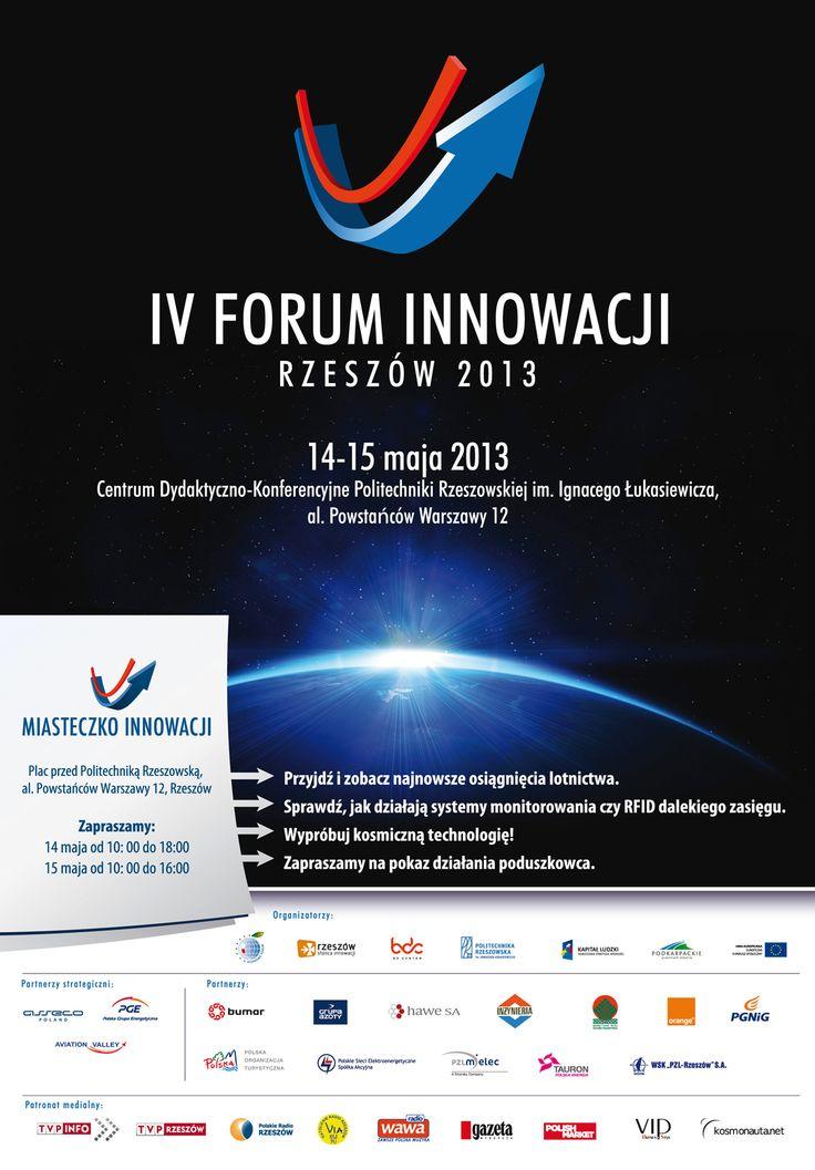 Layout konferencji IV Forum Innowacji. Projekt: Studio Zakład, www.zaklad.pl