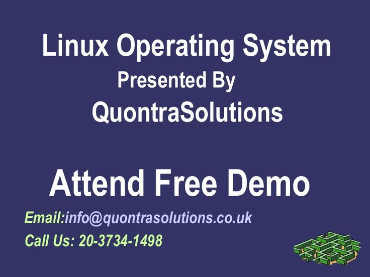 #Linux -is a freely distributed operating system that behaves like the Unix operating system. Linux was designed specifically for the PC platform and takes advantage of its design to give users comparable performance to high-end UNIX workstations. For more visit http://www.quontrasolutions.co.uk