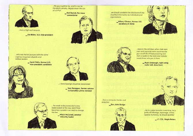 don't shoot the messengera zine about wikileaks - Adriana Crespo