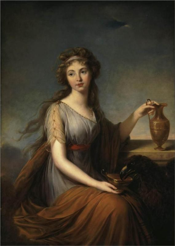 Louise Élisabeth Vigée Le Brun (French, 1755-1842) Portrait of Anna Pitt as Hebe 1792 Hermitage