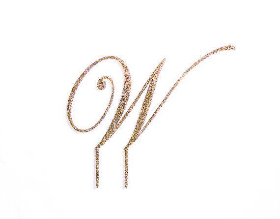Letter Cake Topper Monogram in Glitter  Custom by ZCreateDesign--Very good price!