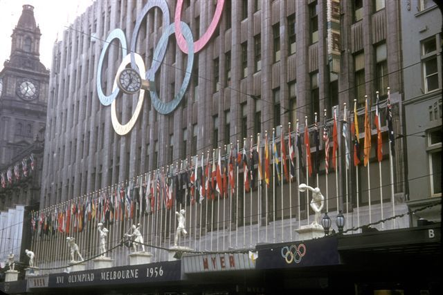 MYER Emporium - Bourke St (during 1956 Melbourne Olympics)