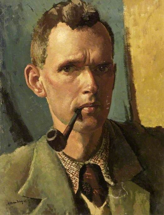 William Dring (English, 1904-1990), Self Portrait, 1941. Oil on canvas, 44 x 34 cm. Russell-Cotes Art Gallery and Museum, Bournemouth, Dorset.
