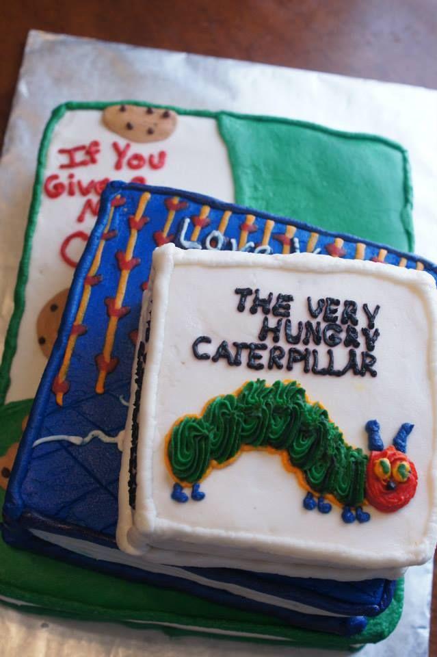 Children's Books Baby Shower Cake