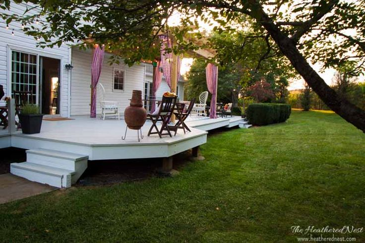 Deck & Cover...Backyard Deck Ideas & Our Deck Makeover Reveal! - Heathered Nest | Rule Your Roost . Dress Your Nest . Ruffle Some DIY Feathers