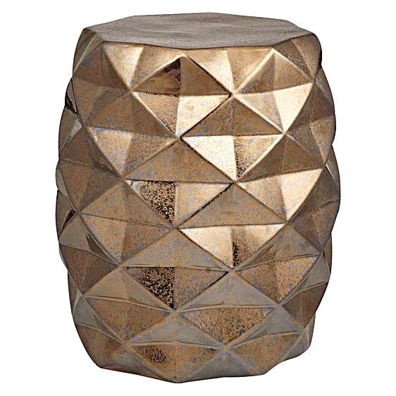 Instil a sense of old-world verve into your living space with the gem-patterned Facet Stool from Amalfi.
