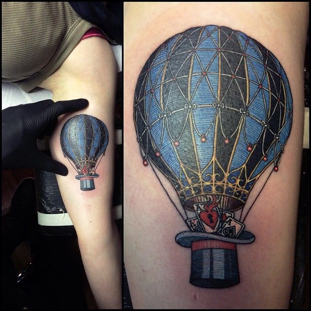 Naked hot air balloon know