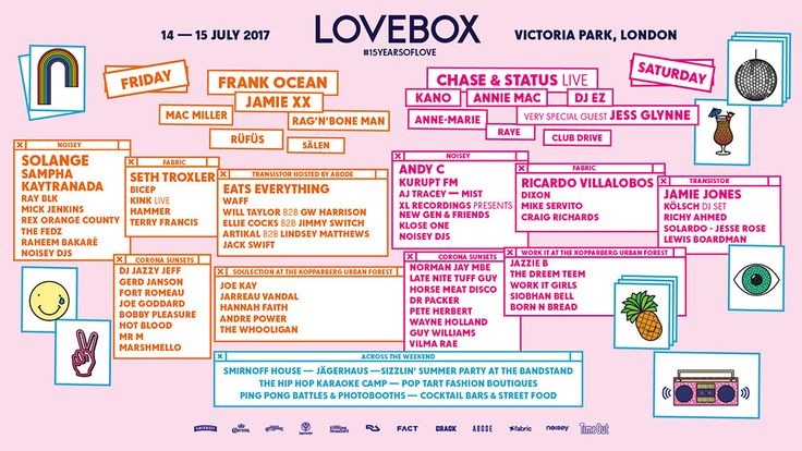 Ticketmaster.co.uk - Lovebox 2017. Official Ticketmaster site.
