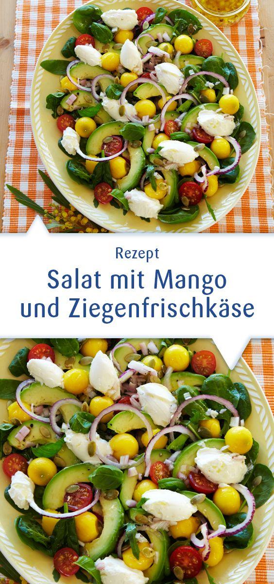 Frisch, fruchtig, pikant – einfach sommerlich! Leckerer Salat mit Snøfrisk Ziegenfrischkäse für heiße Sommertage. Dieses Rezept und mehr Ideen unter http://www.snofrisk.de/rezepte