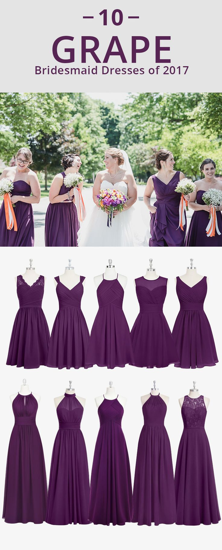 Dress your bridesmaid in this elegant rich purple! Available in sizes 0-30 and free custom sizing! Every woman deserves their dream dress, that fits right while still being budget friendly!  Photo by Kari Dawson Photography.
