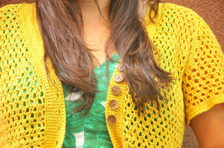 DIY: Crochet Linen Chambray Jacket by Ann E. Smith - Kiku Corner - http://www.kikucorner.com/2017/09/11/diy-crochet-linen-chambray-jacket/