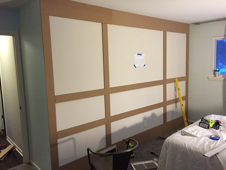 how to the paneled wall decorchick! - 736×552