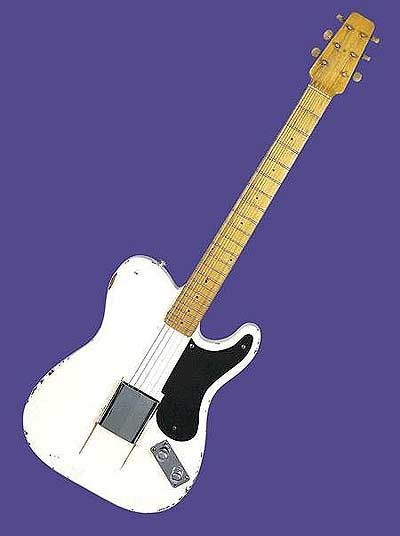 1949 Fender Broadcaster prototype  Sold for $375,000  This guitar was Leo Fender's first prototype for the most popular guitar ever made - the Fender Telecaster