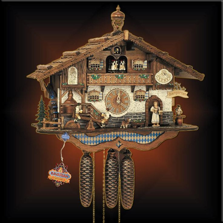 A salute to Oktoberfest, The Bavarian Biergarten chalet style cuckoo clock. Get yours now at Bavarian Clockworks.  #blackforest #cuckooclock #cuckooclocks #clock #schwarzwald #travel #homedecor #design #fallstyle #rustic #farmhousestyle #farmhouse #cottage #handcarved #woodcraft #handmade #uniquegifts #oktoberfest #folkart #bavaria #vintage #antiques #oktoberfest #interiordesign #cuckoo #germany #beer #fall #carved #bavaria