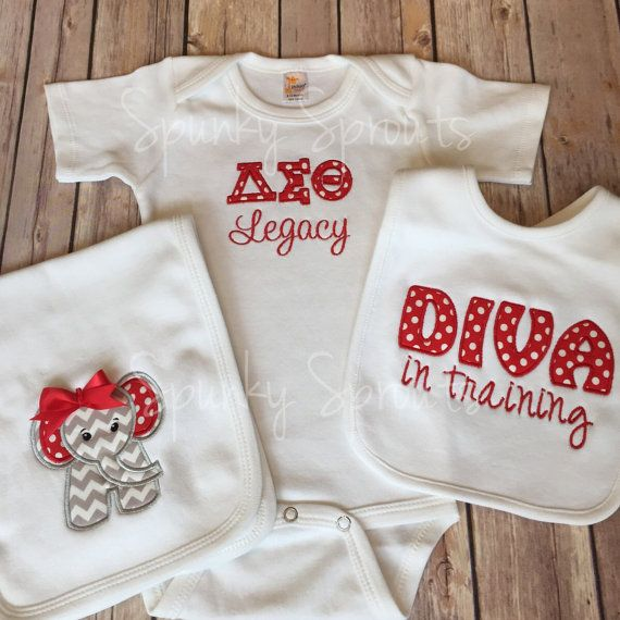 Delta Sigma Theta Sorority Inc. Legacy 3 Pc Baby by SpunkySprouts