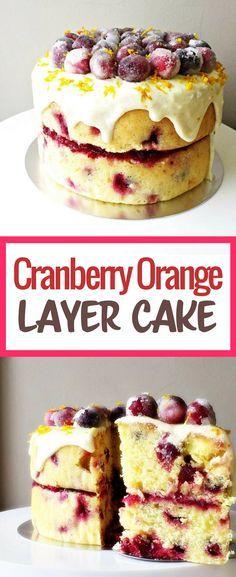 Cranberry Orange Layer Cake