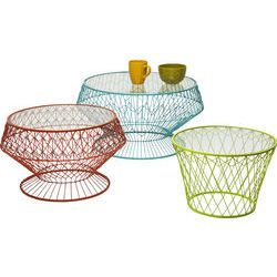 Side Table Wire Colore ( 3/Set)