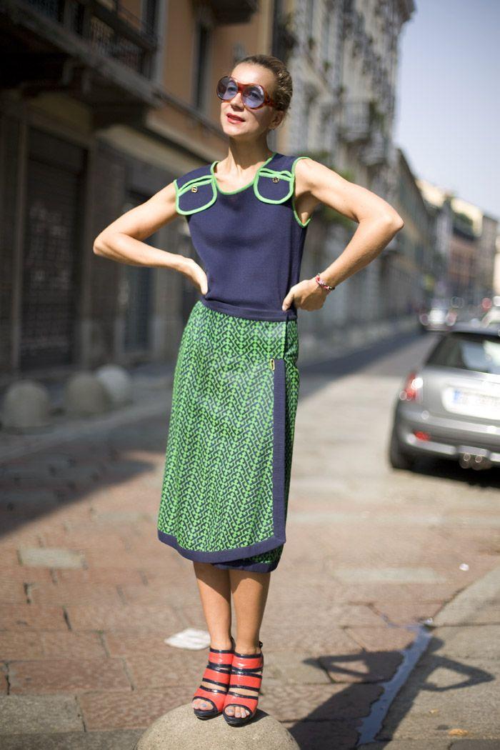 milan: Street Fashion, Street Peeper, Global Street, Fashion Street Style, Street Style, Dress, Vintage Ferragamo, Natalie Joos