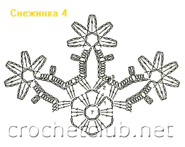 80 besten Crochet Snowflake Patterns Bilder auf Pinterest ...