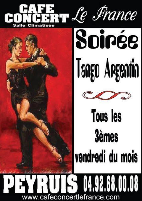 Soirée tango. Le vendredi 20 septembre 2013 à Peyruis.  21H00
