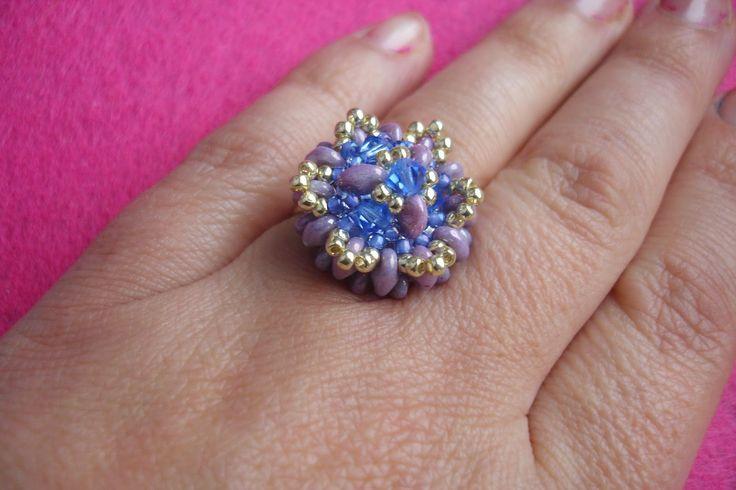 WyszywAnka: lawendowy pierścionek