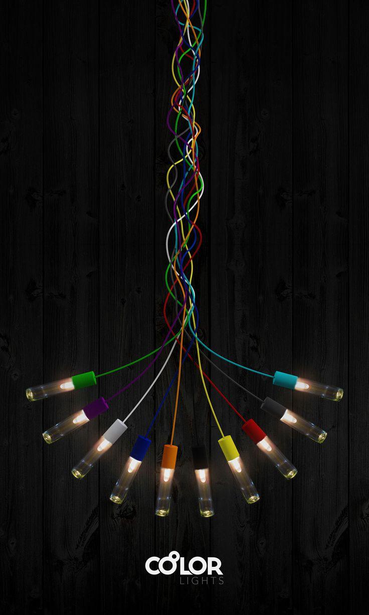 Promotional poster design for Coolor Lights