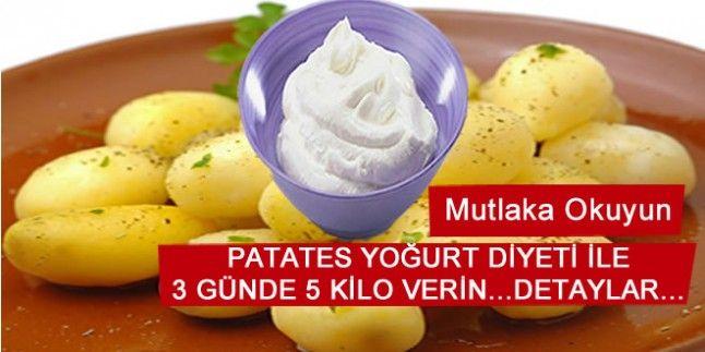 Patates Yoğurt Diyeti 3 Günde 5 Kilo
