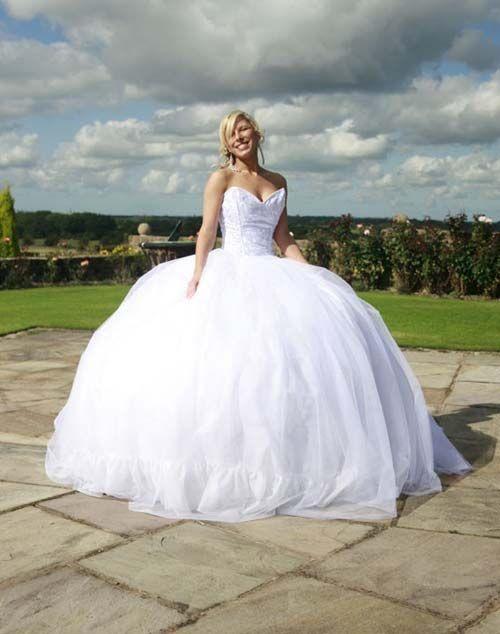 Big princess wedding dress affordable extra large for Big princess wedding dresses