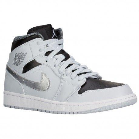 $79.99 #hypestyle #urbanheatwear #kick #jordankick #nikekick #adidakick   jordan aj1 mid black,Jordan AJ1 Mid - Mens - Basketball - Shoes - Pure Platinum/White/Metallic Silver/Black-sku:54724032 http://jordanshoescheap4sale.com/109-jordan-aj1-mid-black-Jordan-AJ1-Mid-Mens-Basketball-Shoes-Pure-Platinum-White-Metallic-Silver-Black-sku-54724032.html