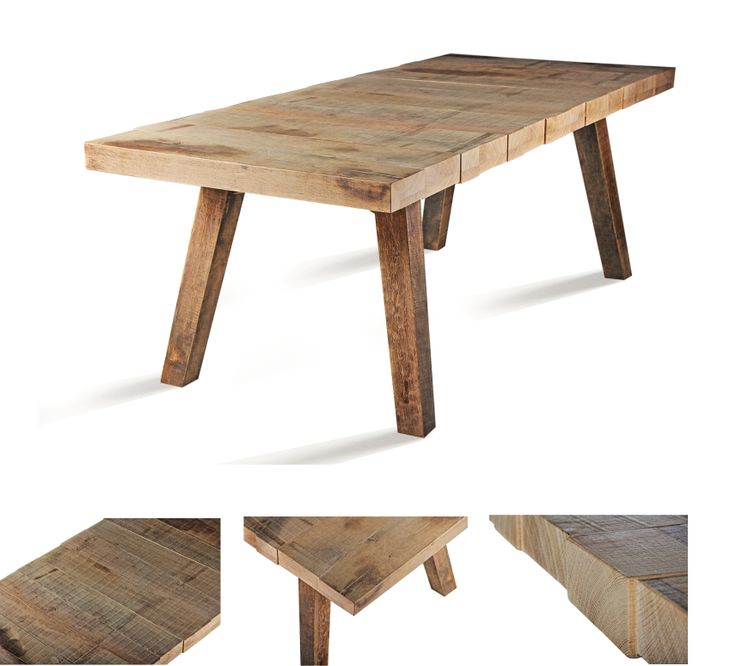 my Jetty Dining Table in weathered oak finish