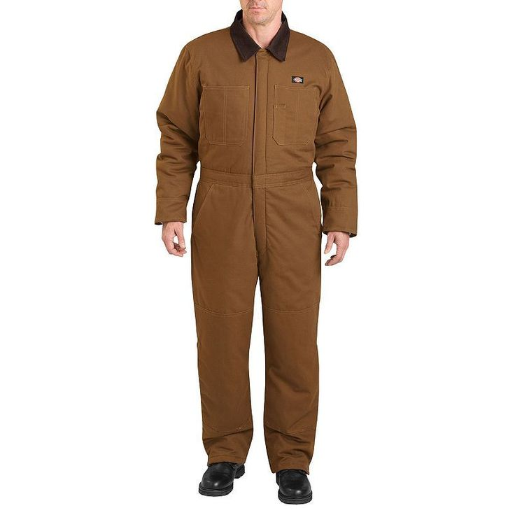 Men's Dickies Sanded Duck Insulated Coverall, Size: Medium, Dark Beige