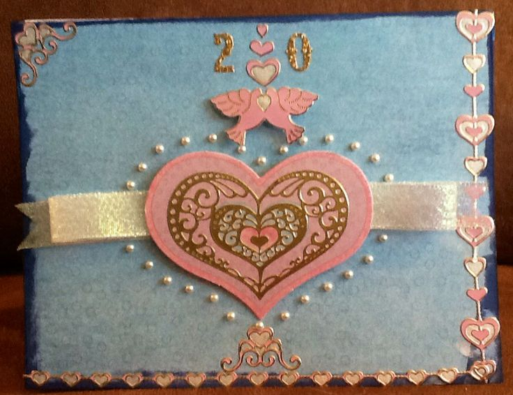 handmade Love Anniversary Wedding card | Paper wishes ideas to luv ...