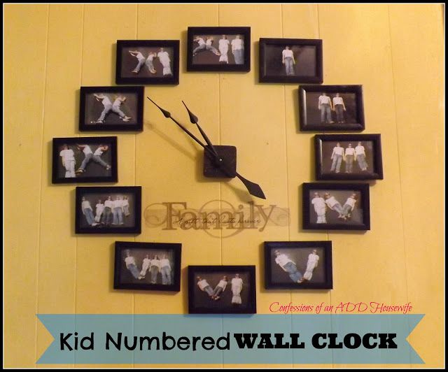 Roman Numeral Photo Clock. Now if I only had a grandchild & daughter-in-law to do this with.