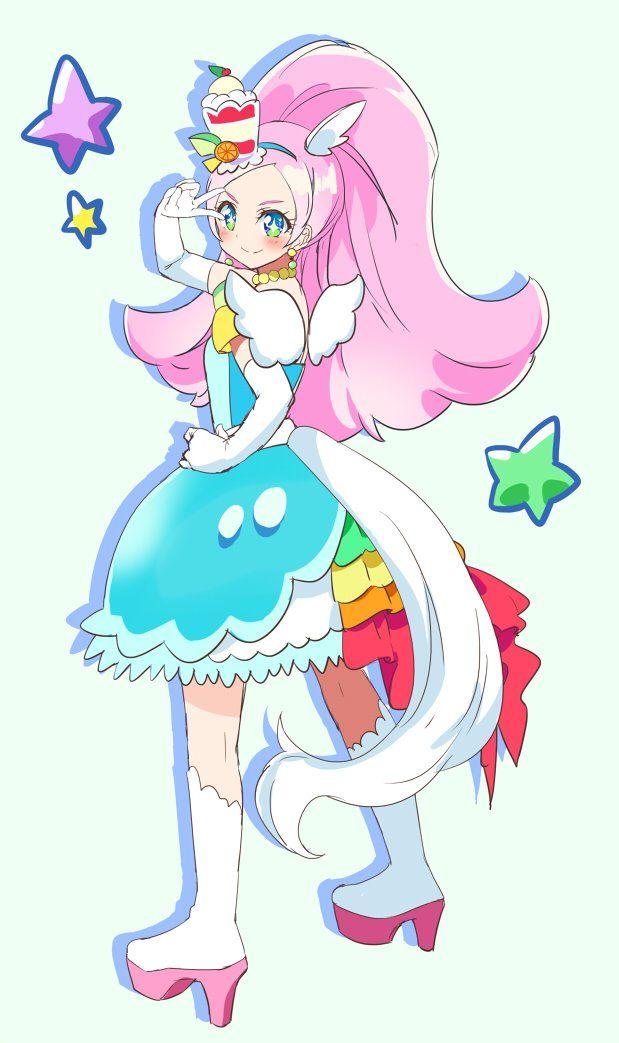 Kira Kira Precure A La Mode Precure Magical Girl Anime Pretty Cure Cute Art